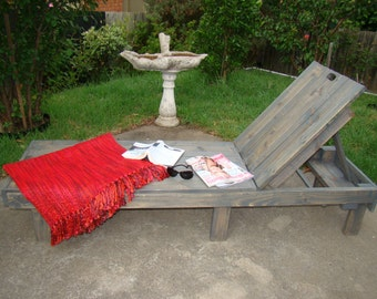 Winston Woodworks Handmade Outdoor Adjustable Garden Sun Lounger made from Pine and Hard Wood