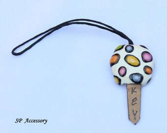 Key Cover, key case, key holding, clay handmade, clay art, clay key cover, clay dot