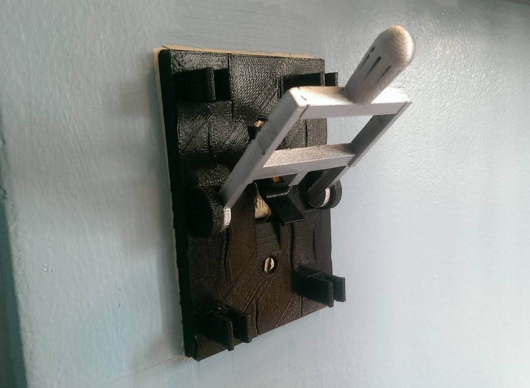 Light Switch Cover W Flip Handle 3d Printed Light Switch