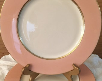 Vintage Castleton China | Shell Pink Lyric | Made in USA | Wedding Decor | Dinner for Two | Replacement China | Shower Gift | Pink and Gold