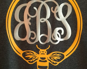 Bumble bee monogram T-shirt