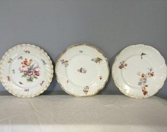 German Porcelain Plates set of 3