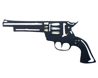 Western Revolver Metal Refrigerator Magnet