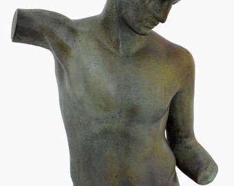 For Sale Marathon Youth Man Bronze Bust - Ephebe - Museum Replica - Lost Wax Method