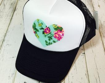 Cute hat, trucker hat, womens hat, cute girls hat, womens trucker hat, snapback, womens snapback, hat for girls