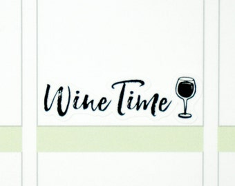 39 Wine Time Stickers  | Planner Stickers designed for use with the Erin Condren Life Planner | 0710