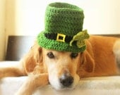 St. Patrick's Day Dog Hat, Leprechaun Hat for Dogs, Leprechaun Dog Costume, St. Patrick's Day Dog Costume, Bearded Dog Hat,