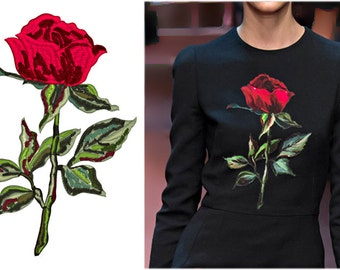 Machine Embroidery Design Rose - 4 sizes
