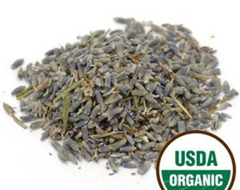 Bulk Organic Lavender Flowers (Extra Grade), 1-pound Bag from France