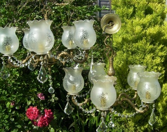 A ~Gorgeous Pair~ of French lead crystal chandeliers