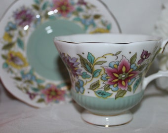 Royal Albert vintage tea cup Jacobean
