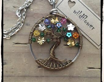 Wildflower, Twisted Tree of Life pendant