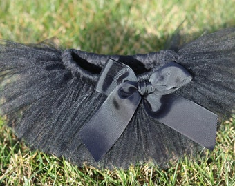 Black Ballerina Tutu Skirt 'Timeless' - newborn baby girl toddler child 6 12 24 months 1 2 3 4 5 6 7 8 years