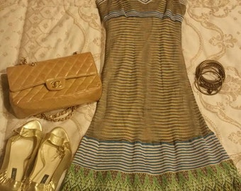 MISSONI DRESS VINTAGE with few flaws , S/M