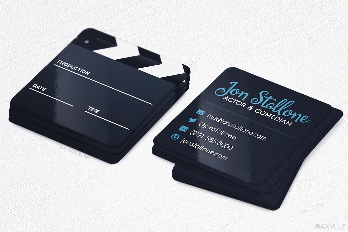 Mini actor business cards film maker square die cut cards zoom magicingreecefo Choice Image