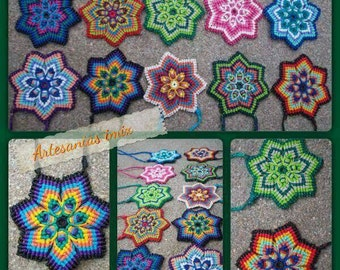 Mandalas macrame necklaces
