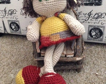 Amigurumi long legs doll