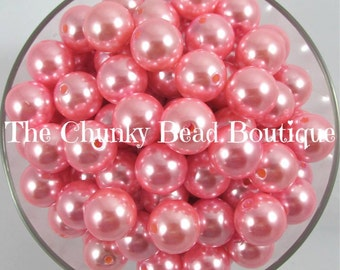 16mm light pink resin pearls