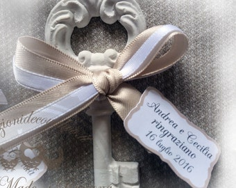 Measures 10 x 10 scented chalks key pieces, 4 cm, wedding place cards