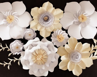 Paper Flower Backdrop, Wedding Centerpiece, Giant Paper Flowers
