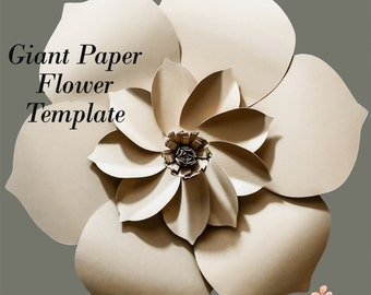 Paper Flower Template, DIY Paper Flower, DIY Backdrop, Paper Flower Backdrop, Flower Template, Flower Pattern