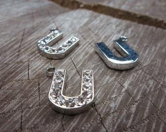 Letter U Pendant Charms ~1 pieces #100606