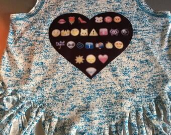 Washed out Emoji  Fringe Tank