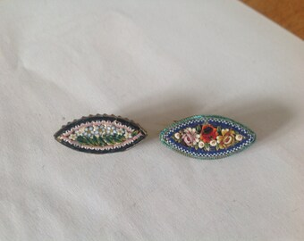 Exquisite Italian mosaic brooches