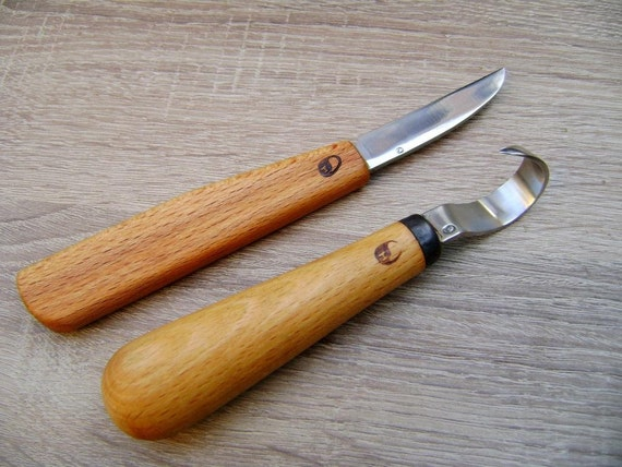 Spoon carving set forged by hand tools