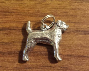 Sterling Silver Border Terrier Dog Charm by H&H