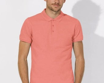 POLO 100% Organic cotton  short sleeve Pink