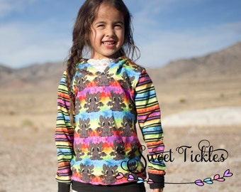 Rainbow Dragon  Children Hoodie- Toothless Hoodie Inspired.Girls Hoddie- Boys Hoddie-Kids Hoodi-