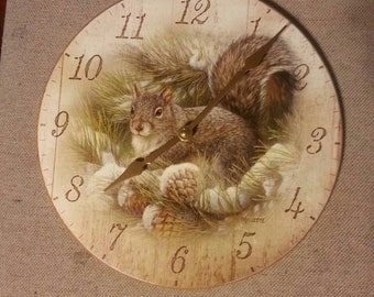 "Squirrel Clock ""NEW"""