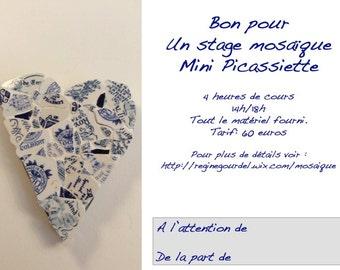 Mini mosaic internship Picassiette gift card