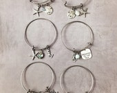 Bangle Bracelet, Shell Bracelet, Beach Jewelry, Sea Turtle Jewelry, Mermaid Bracelet, Dolphin Jewelry, Stackable, Layered Bracelets