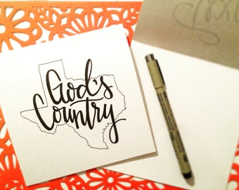 Card Set of 4: God's Country
