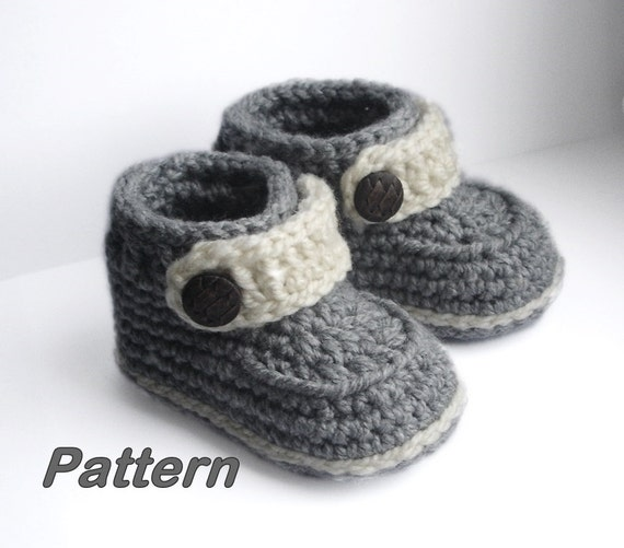 Baby Booties Dresses Christening Gown Crochet Patterns : Crochet Baby Booties Baby Booties Crochet Pattern Easy