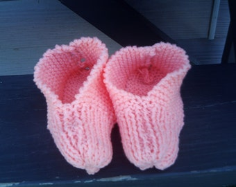 handknitted gradma slippers