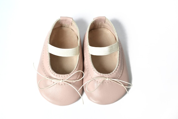 Baby girl ballet shoes Baby leather ballerina shoes Pink