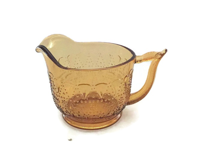 Clearance Amber Depression Glass Footed Creamer