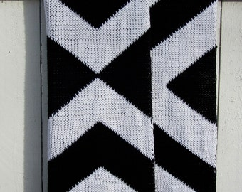 High Contrast Throw Blanket, Pattern Only