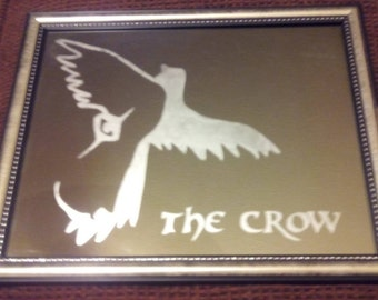 The Crow etched mirror