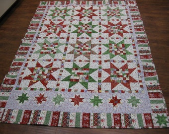 Christmas Quilt throw size