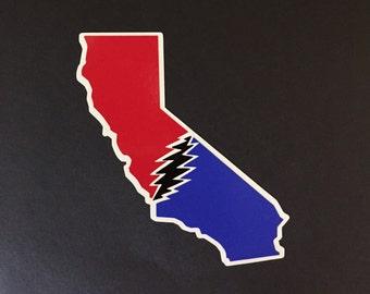 California Grateful Dead Vinyl Sticker