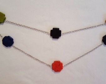 Chain and beads necklace