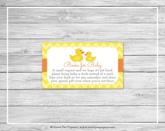 Rubber Ducky Baby Shower Book Instead of Card Insert - Printable Baby Shower Books for Baby - Rubber Duck Baby Shower - SP121