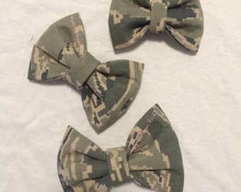 ABU Airforce Bow - Air Force Hair Bow - ABU Bow