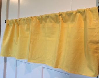 Solid Yellow Curtain Valance