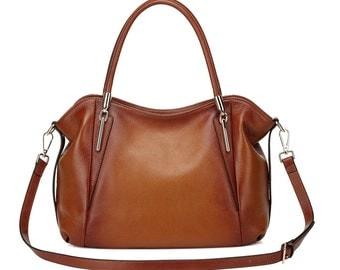 Amedea Leather Tote Handbag