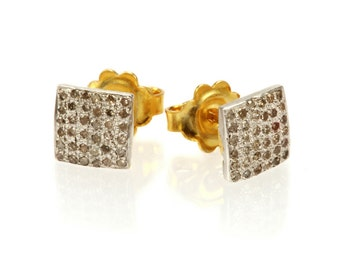 "Earrings ""White Square"""